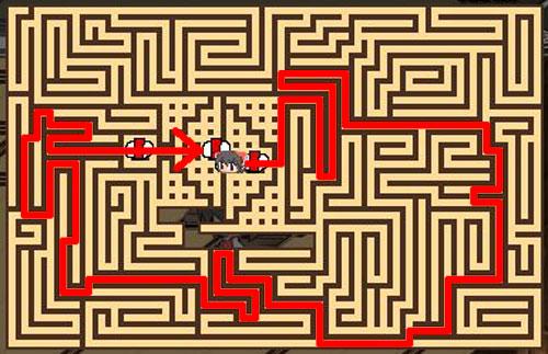 東方の迷宮9F最短