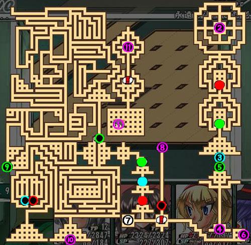 東方の迷宮12F階段スイッチ