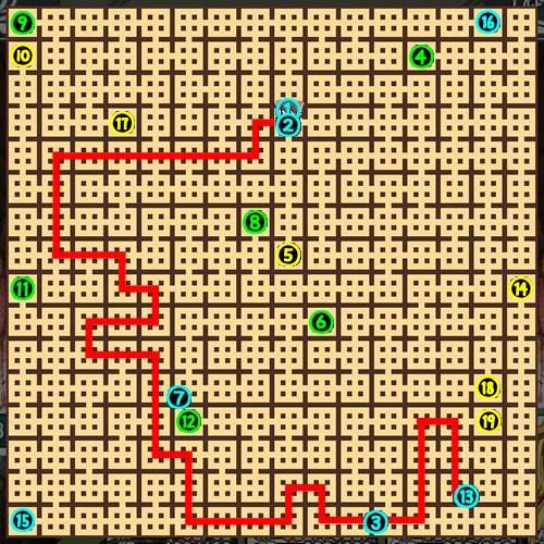 東方の迷宮14F