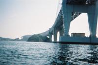 瀬戸大橋を海から眺めました!