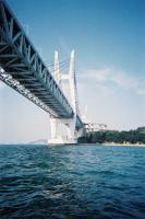 瀬戸大橋 与島パーキングが見えました!