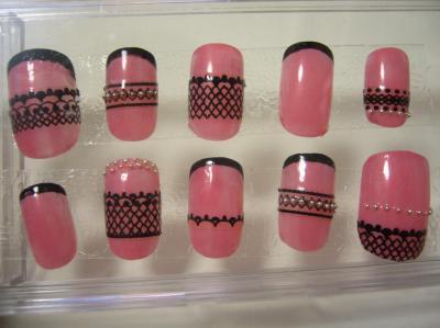 ピンク x 黒のバイカラー