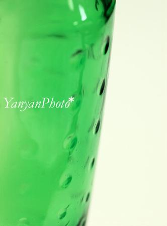 緑のガラスって好き。