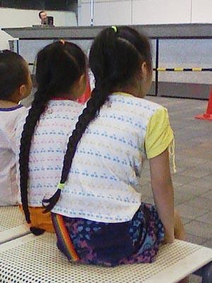 長い髪の少女