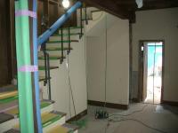 階段周りの珪藻土