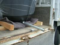 排水管取り付け状況