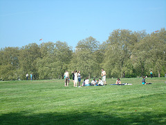 young people in Hyde park