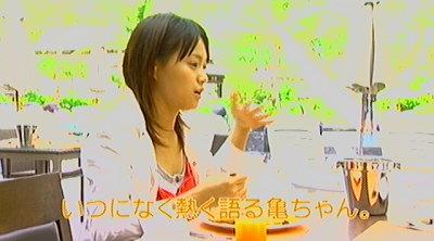 食事中インタビュー。