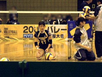 球拾い亜季子さん。