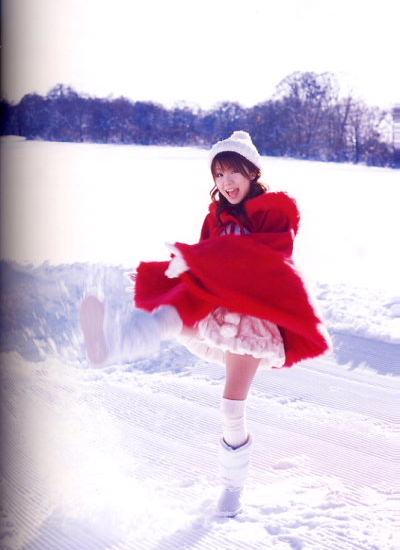雪中田中っち。