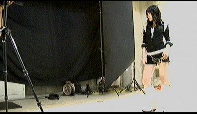 撮影中舞美様。