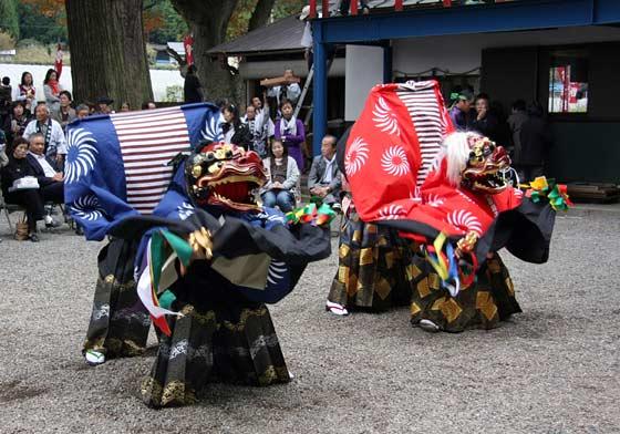 四社神社 神楽獅子3