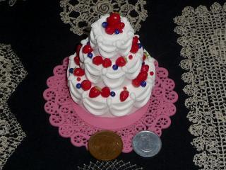 3段ケーキ フェイクスイーツ 1