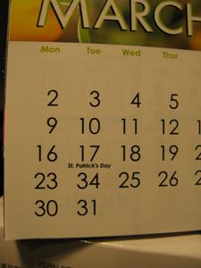 ポーランド カレンダー
