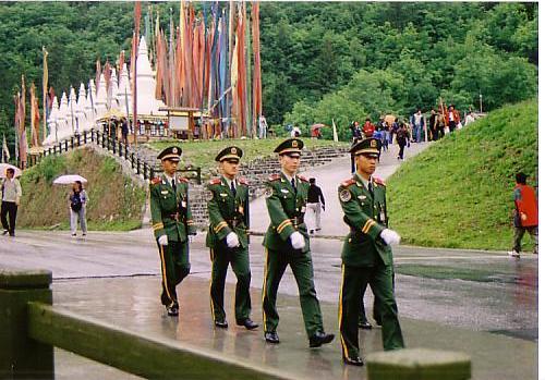 九寨溝14警備の兵交代式