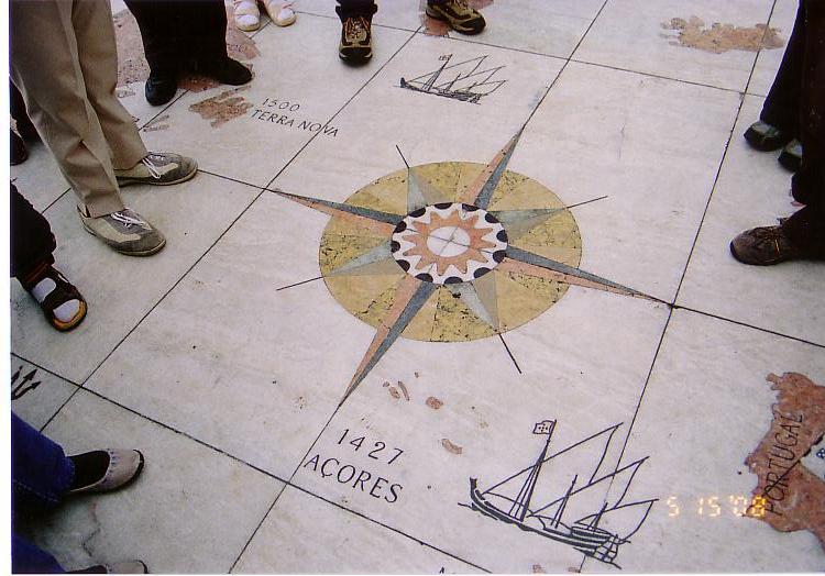 リスボン・床の地図