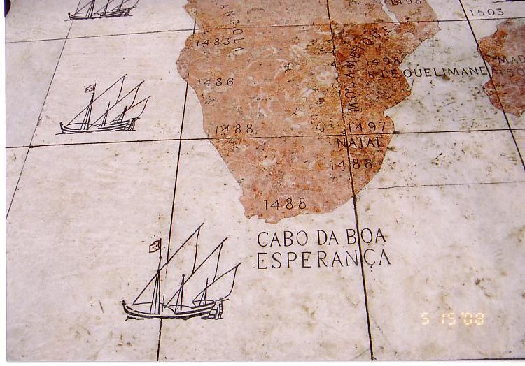 リスボン・床の地図0001