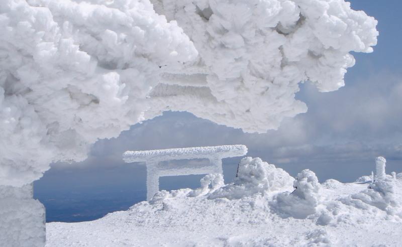 2009.03.05蔵王山苅田嶺神社軒下越の鳥居