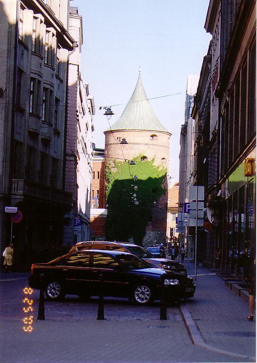 リガ旧市街城壁の塔