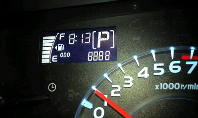 KURACHAN♪メタボbB(ブーブー)号、走行距離8888達成