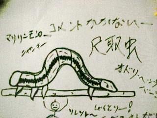 尺取虫を描いてみましたが~なにか?