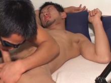短髪ひげのイカチー系フェラってケツ舐め !!