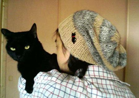 オージと帽子