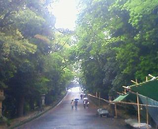 玉砂利の参道