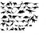 恐竜フォント