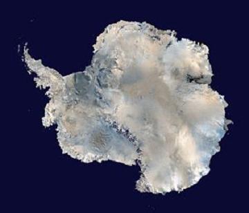 南極大陸衛星写真080215