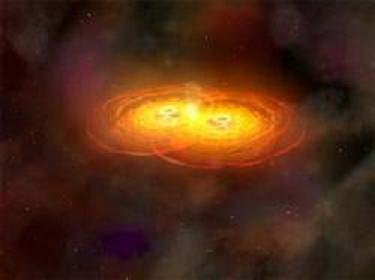 巨大ブラックホールの衝突080302