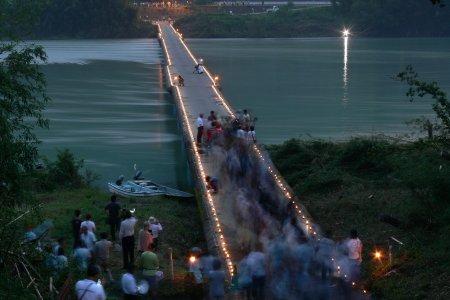 佐田の沈下橋 - ライトアップ