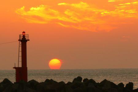 久礼湾の日の出 写真