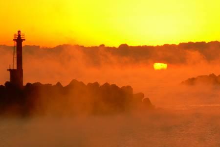 久礼湾の写真 日の出