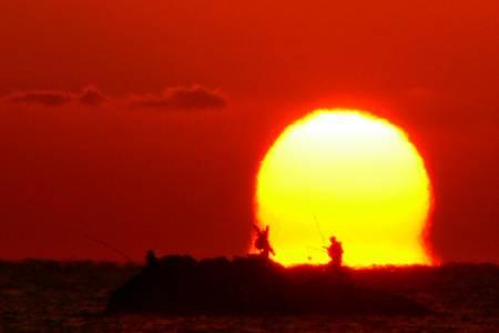 日の出の写真 だるま朝日