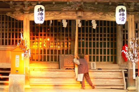 日の出 写真 07/10/24 久礼八幡宮