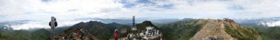 八ヶ岳赤岳パノラマ(愛機Canon30Dで撮影)