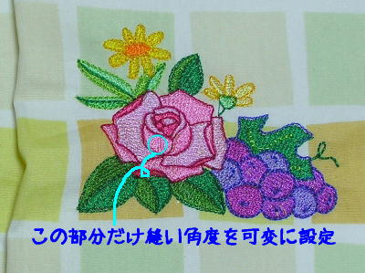 薔薇とブドウ