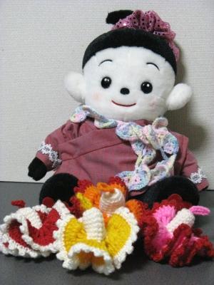プリモプエルの花びらショール