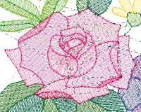 薔薇のステッチ図