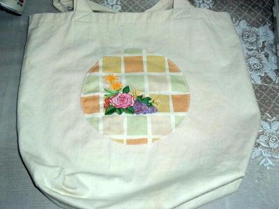 薔薇とブドウでバッグのリフォーム