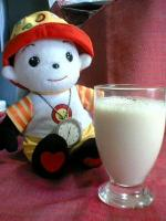 豆乳の完成v(=∩_∩=)