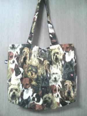 スケッチブックが入る犬バッグ