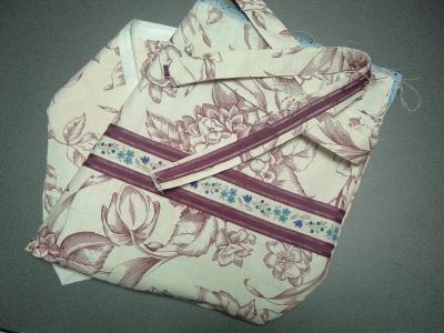 紫陽花の残り布で