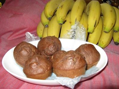 バナナ入りココアケーキ