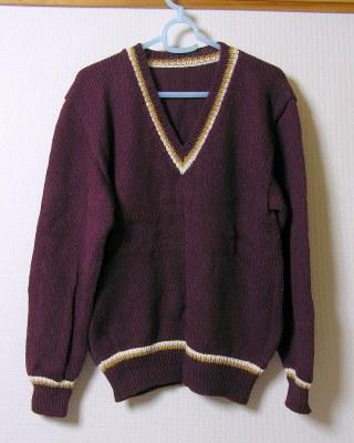 Vネックセーター1