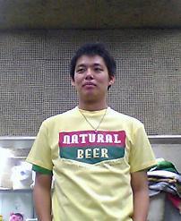 ビールの似合うナイスガイ。