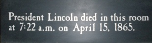 Time of Lincoln died