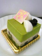 抹茶のムースケーキ(小野小町)