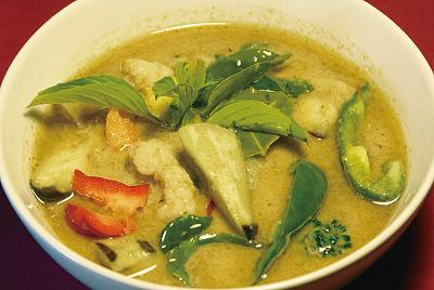 野菜のグリーンカレー(ゲーンキョウワーンパックアルム)